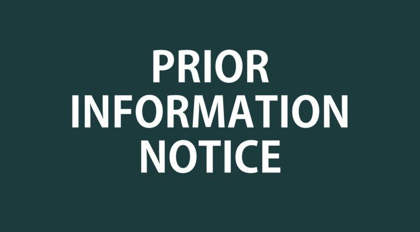 Prior Information Notice publication