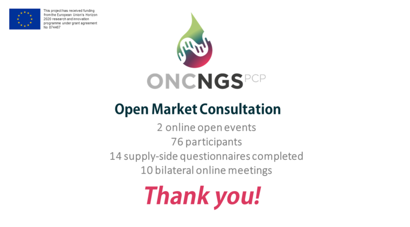 oncNGS Open Market Consultation: report,  outcomes and next steps!